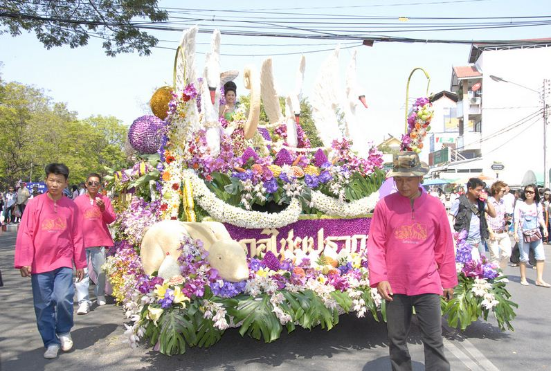 See the Chiang Mai Flower Festival in Thailand
