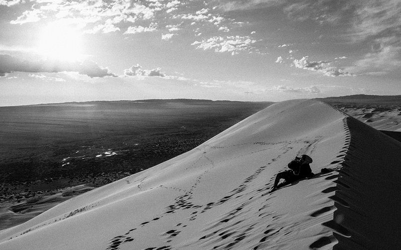 Visit the singing sand dunes of the Gobi desert
